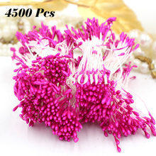 Wholesale Free Shipping 4500pcs/Lot 1mm Plum Color Flower Stamen Pistil Cake Decoration Craft DIY Wedding Decoration(China)