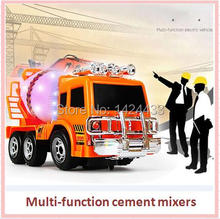 2017 Mini Diecast Engineering Car universal wheel Cement Mixer Scania Truck Rotating Model Classic Baby Kids Education Gift Toys