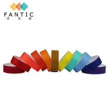 Good sale 200pcs without logo high quality paper one time wristband,paper twist tie,bracelets for event custom logo