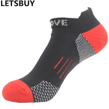 LETSBUY mens running socks breathable cotton elite fast dry cotton ankle sock men short sport sox for outdoor cycling basketball(China)