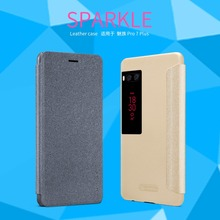 For Meizu Pro 7 Plus case NILLKIN Sparkle PU Leather Case protetive Cover For Meizu Pro 7 Plus mobile phone case(China)