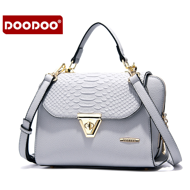 DOODOO 2017 New Women Handbags Luxury High Quality Lady Shoulder Bags Casual Hasp Open Soft Pu Solid Versatile Channel Bag<br>