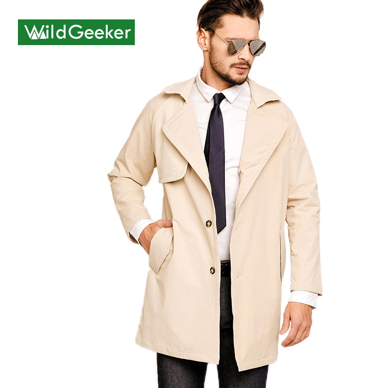 Wildgeeker Mens Coats Fitness Plain Jackets One Button Long Sleeve Notched Lapel Outwear 2017 Spring Brand Clothing Men CoatОдежда и ак�е��уары<br><br><br>Aliexpress