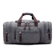 Men's Travel Bag Large Capacity  Handbag Luggage Travel Duffle Bags High Quality Canvas Weekend Bags Multifunctional Travel Tote
