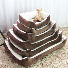 Plus Size Small Middle Large Dog Bed Kennel Mat Soft Pet Cat Dog Warm Bed House Dog Sofa Pad Warm Pet Animal Home
