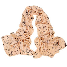 2017 Hot Sale Women Fashion Chinese Scarf Musical Note Long Scarf Wrap Women Winter Luxury Brand Scaves Women Scarves Stoles