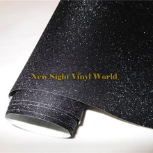 High Quality Black Bling Sandy Diamond Vinyl Film Roll Wrap Air Free For Phone Laptop Computer Skin Cover Size:1.52*30M/Roll