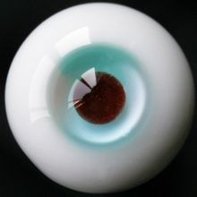 [wamami] 18mm Green Multicolor For BJD Doll Dollfie Coffee Pupil Glass Eyes Outfit(China)
