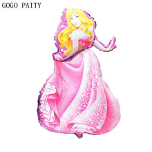 GOGO PAITY new princess styling aluminum balloons birthday party balloons wholesale children's toys(China)