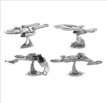 4PCS Star wars 7 Force Awaken Star Trek 3D jigsaw puzzles for kids 3D Nano metal DIY scale Model Building architecture toddlers