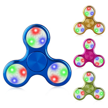 Buy LED Light Hand Colorful Finger Spinner Plastic EDC Hand Spinner Autism ADHD Relief Focus Anxiety Stress Gift Toys for $1.87 in AliExpress store