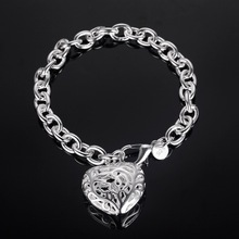 nice bracelet 925 free shipping Fashion jewelry silver gift gem Hand catenary PS563