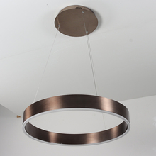 New product test marketing! Brown aluminum pendant lamp, picture real shot, led circular pendant lamp