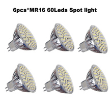 Buy 6pcs/lot MR16 LED Spotlight 5W 12V 60LEDs LED Bulb SMD 3528 350lm-400lm LED Lamp light for $11.61 in AliExpress store