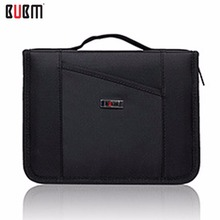 BUBM Waterproof Power Bank Charging Cable Storage Bag Electronics Accessories Organizer Case with Handle - Grey