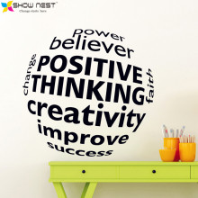 Business Motivation Quotes 3D Visual effect Wall Decal Mural - Office Sticker Wall Decor - Office Scene Wallpaper Design