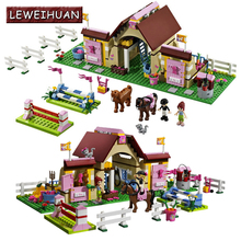 LEWEIHUAN Friends 10163 Heartlake Stables Girls Mia's Farm Building Blocks 400pcs/set Bricks toys educational toys Gifts