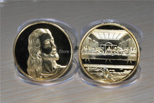 JESUS at the LAST SUPPER - 24kt Gold Plated Uncirculated PROOF Coin in Capsule, free shipping 2pcs/lot(China)