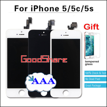 Competitive Price 100% No Dead Pixel AAA for iPhone 5s/5c/5 LCD Display Touch Screen Digitizer Assembly Replacement Black/White
