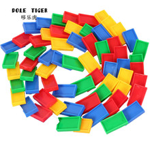 DOLE TIGER 103pieces Creative Kids Domino Set Building Blocks and Stacking Baby plastic Domino Set(China)