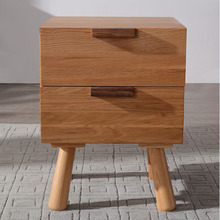 White Oak Wood Bedside Stand Drawer Cabinet(China)
