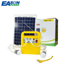 EASUN POWER Portable Solar Power Generator Mini 10W Solar Panel 12V / 7Ah lead acid Battery DC Solar Lighting System(China)