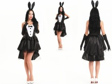 FREE SHIPPING LEG AVENUE Tux & Tails Bunny Animal Sexy Fairytale Fancy Dress Costume(China)
