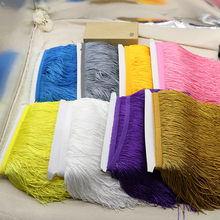 5 yards/Lot 15CM Width Polyester Tassel lace Fringe Trim For DIY Latin Dress African Lace Yarn(China)