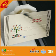 Custom Stainless Steel Cheap Etch Metal Card For Business(China)