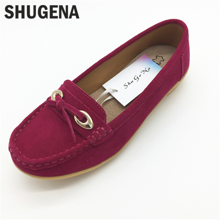 C Genuine Leather Shoes Woman zapatillas mujer Casual Flat Shoes Summer Ladies Shoes Loafers Slip on Ballet Women Flat<br>