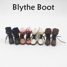Free shipping Blyth doll Leather Boot with four differents color for suitable for 1/6 30cm doll Factory Blyth(China)