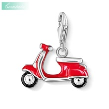 Pendant Charm Scooter Italian Vespa Dolce Vita 925 Sterling Silver For Women & Men Casual Gift Thomas Style Club Fit Ts Bracelet