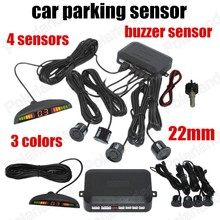 new design car parking sensor system display with 4 sensors 3 colours 22mm sound alarm indicator Radar Monitor System(China)