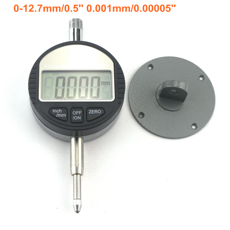0-12.7mm Digital Dial Indicator 0.5 0.001mm Electronic Micrometer Micrometro High Accuracy<br>
