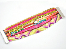 2016 France fashion magnetic Bohemia Bracelet brazil style summer beach multilayer handmade bead bracelets for women gift hot