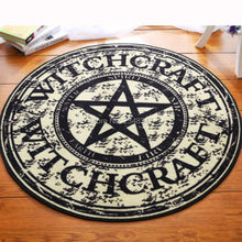 Fashion Pentagram Soft Flannel Foot Door Yoga Chair Play Mat Bathroom Hallway Carpet Area Rug Round Home Decoration Black Star(China)