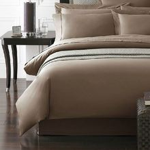 Quality 1200 TC Bedding 1200 thread count special Egyptian cotton bedding set King Queen size light brown color