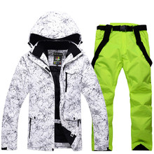 Snow Jackets Man/Woman Snowboarding Clothes Winter Outdoor Sports ski suit sets Waterproof Thick -30 Warm Costume jackets+pants(China)