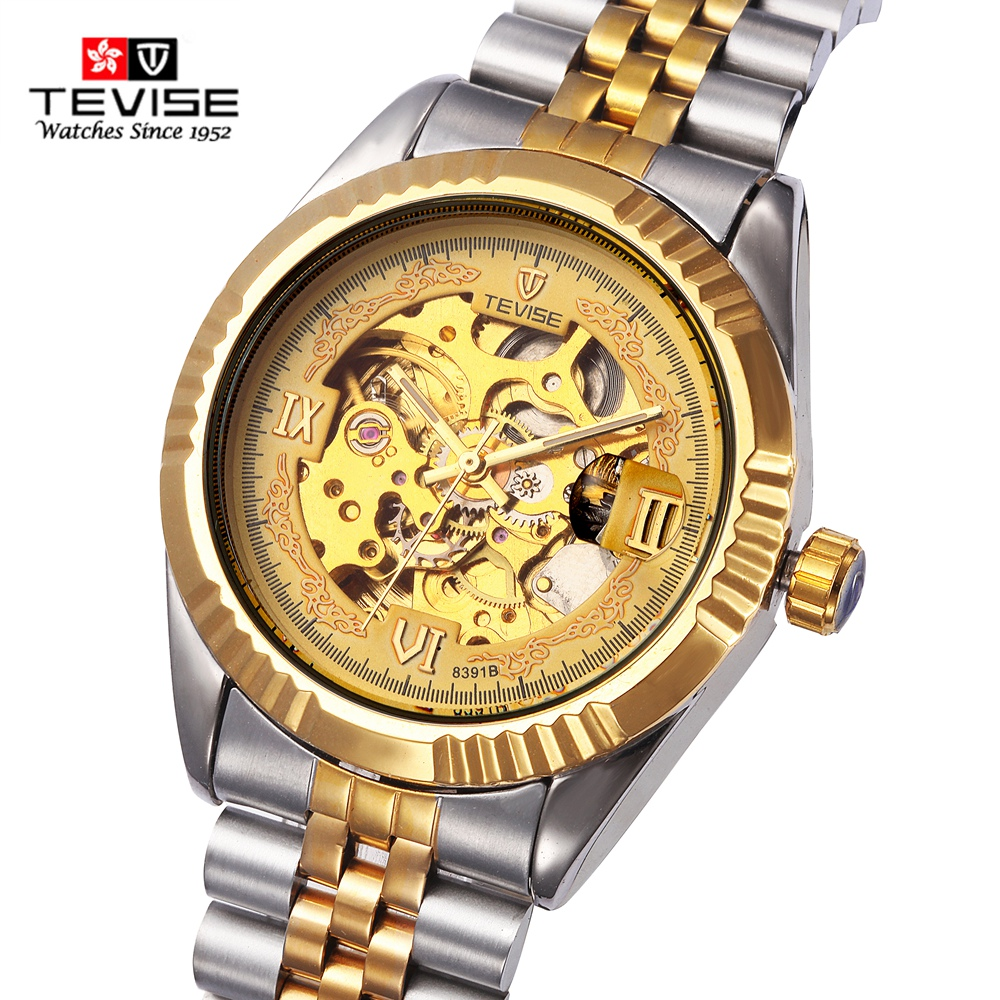 Tevise Classic Men Mechanical Watch Luxury Brand Watch Sport Stainless Steel Band Wristwatches Automatic Watches Male Clock<br>