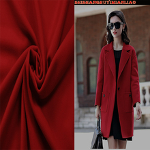 High Quality 150*50cm1pc Red Cashmere Fabric Wool Fabric Coat Fabric Sewing Material For DIY Winter/Autumn Women Coat&Suit&Dress