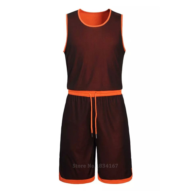 17 Men Reversible Basketball Set Uniforms kits Sports clothes Double-side basketball jerseys DIY Customized Training suits 22