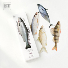30 pcs/box Salted Fish paper bookmark stationery bookmarks book holder message card school supplies papelaria