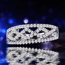 silver plated jewelry finger ring 925mall lady princess cut Cubic Zircon zircon wedding bands for women unique engagement rings