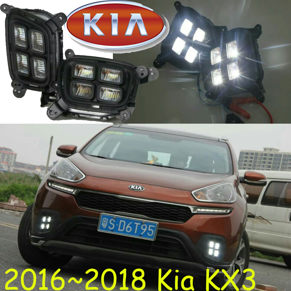 2015 2016 2017 KIA KX3 daytime light,sorento,Free ship to your door!LED,KIA KX3 fog light,K2,K3,K5,Soul,ceed,2pcs;cadenza;cerato<br>