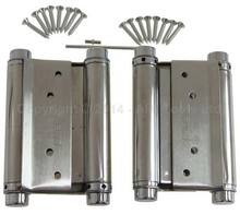 1 Pair Stainless Steel Sprung Hinges Double Action Swing Doors