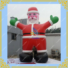 Inflatable Santa Claus for Christmas,Inflatable Santa Flying,Inflatable PVC Air Sealed Santa Claus for Advertising