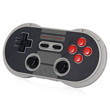 Hot 8Bitdo NES30 Pro Wireless Game Controller Retro Design Dual Connections with Programmable Keys for iOS/Android/PC/Mac/Linux