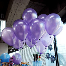 10pcs/lot 10 Inch Light Purple Latex Balloons Wedding Decorations Balloons Inflatable Children's Birthday Party Balloon Supplies