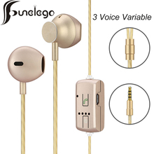Funelego Variable Voice Change Sound Cute Funny Earphone Wired Headset F29 Women Child Voice New Technology Stereo Earplugs(China)