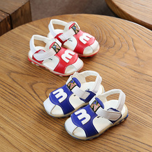 Hot SALE Boys Leather Sandals Summer The New Soft Leather Boys And Girls Children Beach Shoes Kids Sport Sandals EU 21-30(China)
